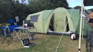 Camping at Waipu Cove, Northland, NZ